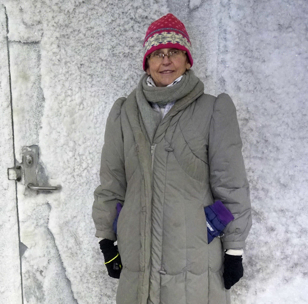 - No country can possibly maintain its own food security by itself. We have to all work together, says Christine Dawson, chair of the International Advisory Panel to the Svalbard Global Seed Vault, here in front of the door leading in to the seed storage in the Vault.