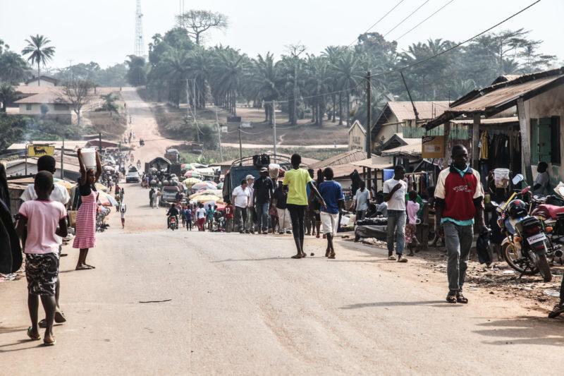 Village street Liberia
