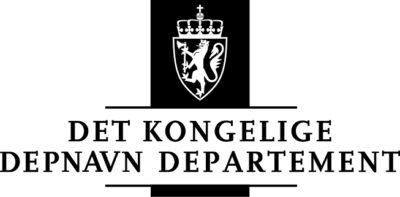 Eksempel på formell logo i i sort/hvitt