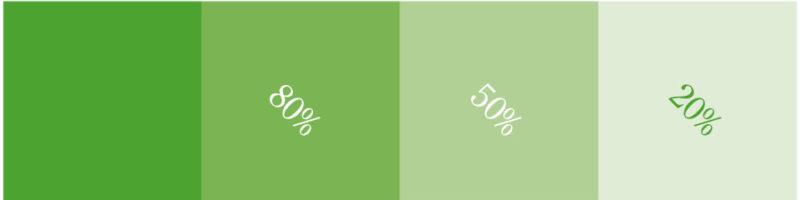 GRØNN farge: PMS: 362C, CMYK:70, 0, 100, 9, RGB: 73, 169, 66, HEX: #4AAA42