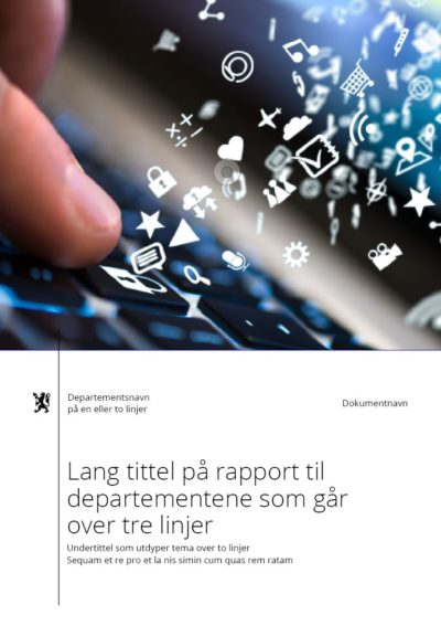 eksempel forside rapport
