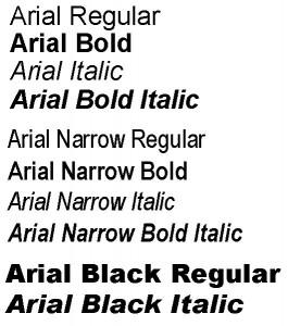 Oversikt over skrifttypen Open Sans.