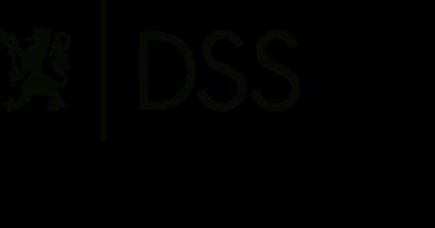 DSS-logo med venstrestilt avdelingsnavn