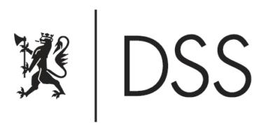 sort (positiv) hovedlogo for DSS