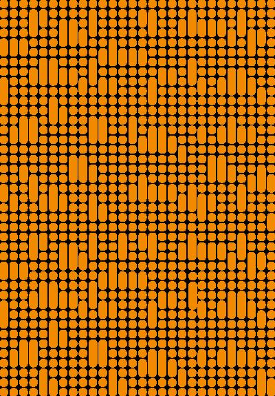 KD mønsterelement oransj