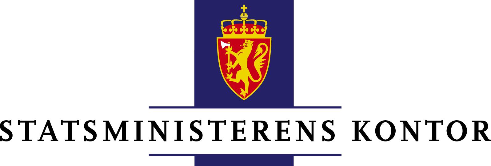 Logo Statsministerens kontor i farger