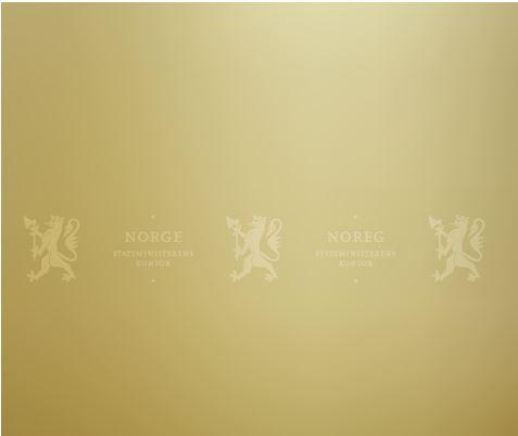 SMK bakgrunn. Farge: Gullmed hvit ned tonet logo