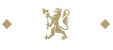 Designelementet som består av én løve og to diamanter