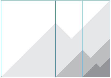 Skisse for plassering av profilement., hel bredde av formatet