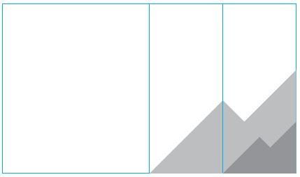 Skisse viser plassering av profilelement, halv bredde.