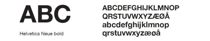 bilde av fonten Helvetica Neue Bold