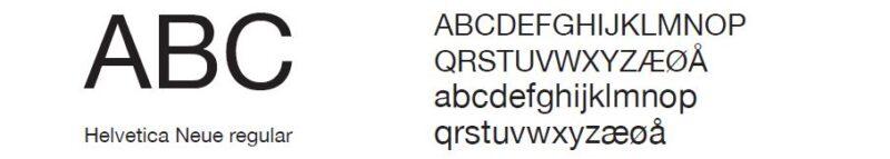 bilde av fonten Helvetica Neue Regular