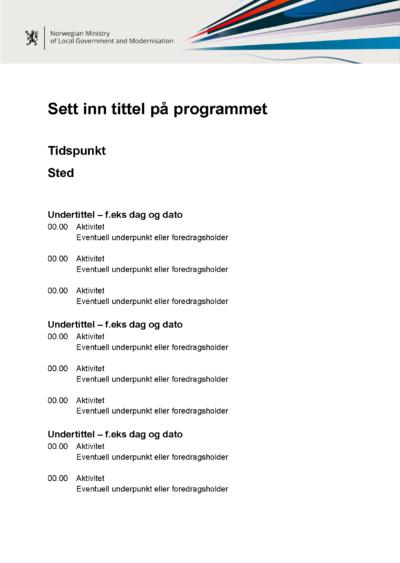 Engelsk mal for program