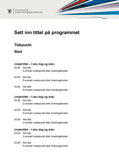 Mal for norsk program