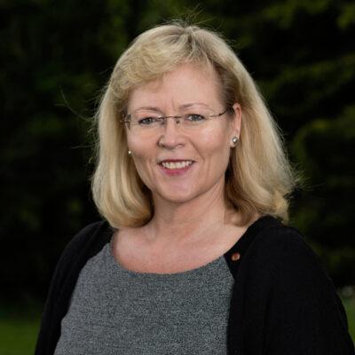Portrettbilde av Trude Tinnlund, LO-sekretær