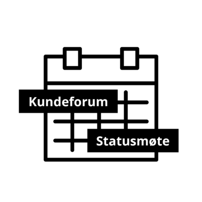 Icon: kundeforum, statusmøte