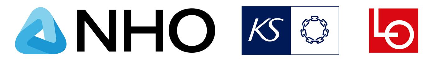 logoer for KS, NHO og LO