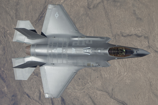 F-35A sett overfra
