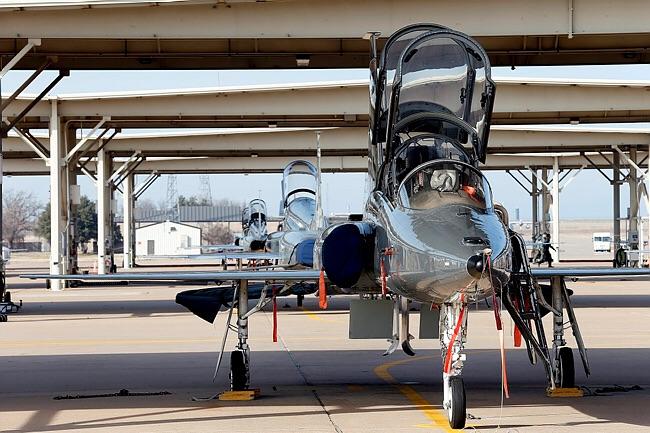 Treningsflyet T-38 som norske flygere kjenner godt fra treningsbasen Sheppard Air Force Base i Texas. Foto: Forsvaret