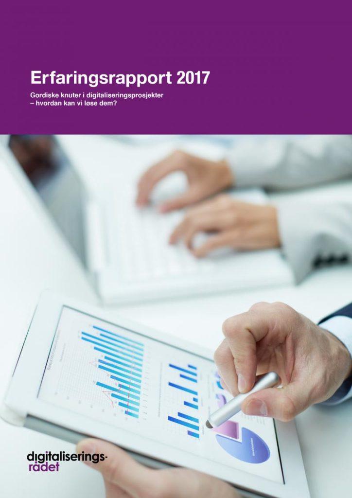 Faksimile av forsiden av Digitaliseringsrådets Erfaringsrapport 2017