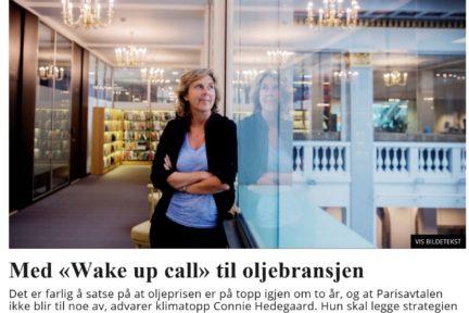 Connie Hedegaard i Dagsavisen 27. august 2016